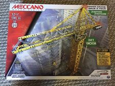 New! Meccano Tower Crane Model Set, Model 15308, FAST SHIP!