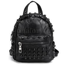 Women Girls Mini Stud Backpack Shoulder Bag Leather Small Bag Handbag Satchel