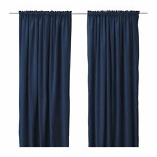 4 Pcs Panel Curtains 60WX84L Navy Blue Polyester Photography Background Drape