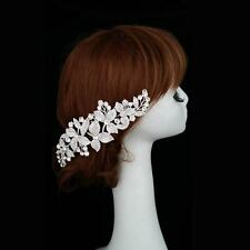 ELegant Bridal Wedding Hair Comb Crystal Flower Hair Clip Bridesmaid Headpiece