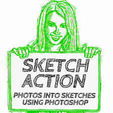 TURN DIGITAL PHOTOS INTO SKETCHES PHOTOSHOP ACTION (VER. 7 and UP )