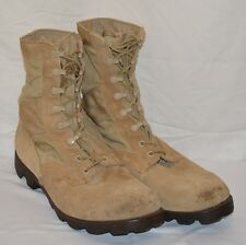 Vintage 1990 Military Issue Desert Tan Hot Weather Combat Jungle Boots Size 12 R
