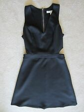WOMENS ABERCROMBIE & FITCH A&F BLACK CUT OUT SLEEVELESS STRETCH FITTED DRESS XS
