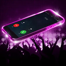 LED intermitente a prueba de choques Transparente TPU funda para iPhone 5/6s/7/7 Plus