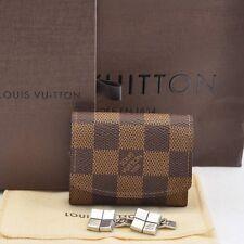 Authentic  Louis Vuitton Damier Cuff Links Case / Cuff Links Silver #S079