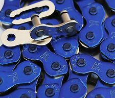 "KMC BMX bicycle 1/8"" chain K710 Shiny 2.0 - CANDY COAT (anodize look) BLUE"