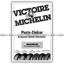 PUB MICHELIN BIBENDUM Victoire au PARIS-DAKAR - Publicité Pneus Moto 1983