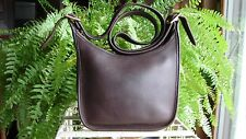 COACH VINTAGE MAHOGANY BROWN LEATHER JANICE'S LEGACY SHOULDER HANDBAG ~ 9950 EUC