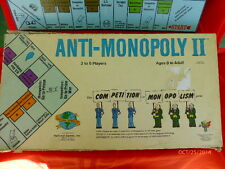 ANTI MONOPOLY II BOARD GAME INCOMPLETE 1977 VINTAGE REPLACEMENT