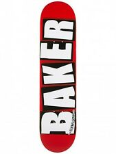 BAKER LOGO BRAND MINI WHITE SKATEBOARD DECK 7.3 **FREE GRIP**FREE SHIPPING**