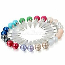Lot 12 Pairs Assorted Mixed Color Wholesale Stud Earrings Stainless Steel Pin