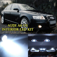 AUDI A6 C6 INTERIOR LED WHITE FULL 14 PCS ERROR FREE LIGHT KIT SET