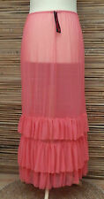 LAGENLOOK AMAZING BOHO MAXI PETTICOAT UNDERSKIRT/DRESS*PINK*WAIST UP TO 56""
