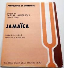 Partition vintage sheet music PASCAL AUBERSON : Jamaïca * 70's