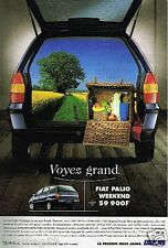 Publicité advertising 1999 Fiat Palio Weekend