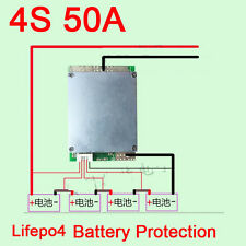 4S CELL 50A BMS Protection PCB Board For 3.2v Lifepo4 Battery Pack WITH Balance