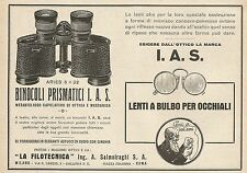 Z0174 La Filotecnica Ing. Salmoiraghi - Binocolo Ariès - Pubblicità del 1928