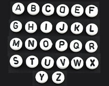 """520 Mixed Acrylic Alphabet """"A-Z"""" Round Spacer Beads 7mm"""