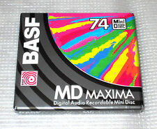 "One (1) Minidisc BASF ""Maxima"" MD 74 '1994 (new and sealed)"
