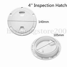 4'' ABS White Round Deck Plate Inspection Hatch Marine Screw Out Boat Access