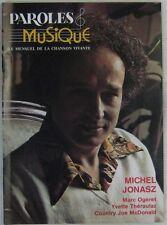 Revue Paroles et Musique N° 25 Michel Jonasz