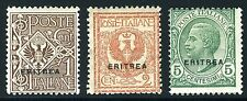 ITALY COLONY ERITREA SCOTT# 88-90 MINT HINGED AS SHOWN
