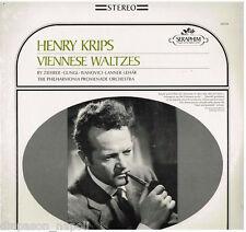 Henry Krips: Viennese Waltzes (Valzer Viennesi) / Lanner, Lehar.. - LP Seraphim