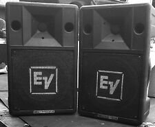 2 X EV ELECTROVOICE S200 PA SPEAKERS FULL REFURB NEW LF CONES& NEW HF DIAPHRAGMS