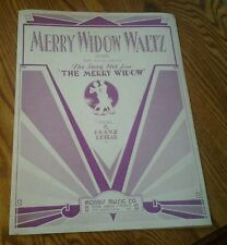 SHEET MUSIC MERRY WIDOW WALTZ SONG WITH GUITAR CHORDS COPYRIGHT 1932