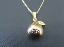 "9ct Yellow Gold Filled Pear Pendent with Dabbled Effect and 18"" Chain PC2040"