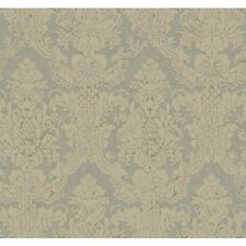 York Wallcoverings CC9516 Aged Elegance Grey Garden Wallpaper, Muted Gold/Silver
