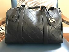 CHANEL Quilted Matorasse Boston Hand Duffle Leather Italy