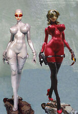 Sexy Space Suit Girl with Science Pistol 1/8 Unpainted Figure Model Resin Kit