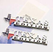 2x Chrome Texas Edition Emblems Badges Toyota Tacoma Tundra Ford Chevy Dodge W