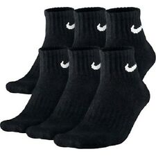 NIKE MEN'S BLACK CUSHIONED QUARTER SOCKS - L (Shoe Size 8-12) - 6 PAIRS/PACK