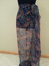 Woman Bathing Suit Wrap blue red Cover Skirt one Size modest swimming swim suit