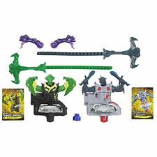 BeyWarriors Beyblade 2 Pack Dark vs Water Element Bahamoote & Orochi READ B038