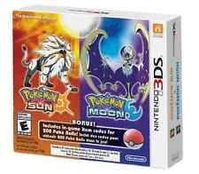 Pokemon Sun and Moon Dual Pack (Nintendo 3DS) BRAND NEW / US Version /