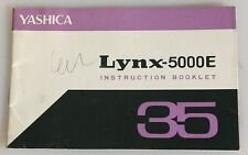 YASHICA LYNX-500E INSTRUCTION BOOKLET 35