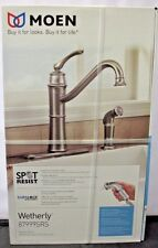 Moen Wetherly SPOT RESIST STAINLESS 1-Handle High-Arc Kitchen Faucet Side Spray
