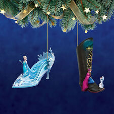 Disney's Once Upon a Slipper Ornaments Elsa Anna Frozen Shoe Figures set #15