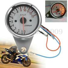 Universal Motorcycle Speedometer Tachometer Gauge RPM 13000 NIGHT LED Back Line