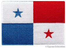 PANAMA NATIONAL FLAG PATCH iron-on EMBROIDERED SOUVENIR applique PARCHE