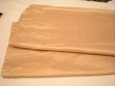 """LINENS N THINGS 2 panels (pair) Gold 100% silk  42""""x96"""" pole top fully lined"""