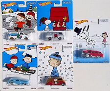 HOT WHEELS 2016 POP CULTURE CHARLIE BROWN PEANUTS SNOOPY SET OF 5