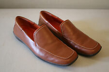 Women's Rockport Brown Casual Leather Slip On Loafers Shoe Size 7 Made in Brazil