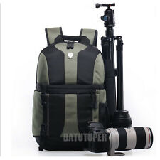 Shockproof DSLR Camera Laptop Backpack Bag Case For Canon Sony Nikon+Rain Cover