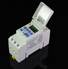 DIN RAIL DIGITAL PROGRAMMABLE WEEKLY TIMER SWITCH 16a 220Vac