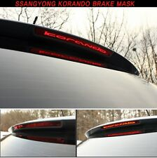 Rear Spoiler Auxiliary Stop Lamp Mask Moulding For 2011~2013 Ssangyong Korando C