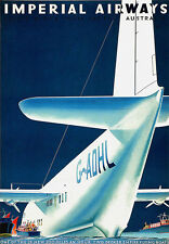Imperial Airways  Australia Travel Vacation Holiday A3 Art Poster Print